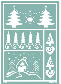 Glasets sjabloon kerstboom 38-752-000
