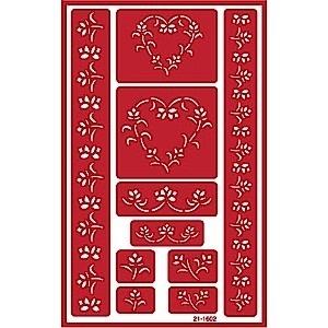 Glasets sjabloon Bloemen rand 21-1602