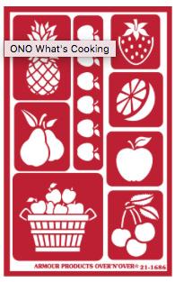 Glasets Sjabloon Tutti Frutti 21-1686