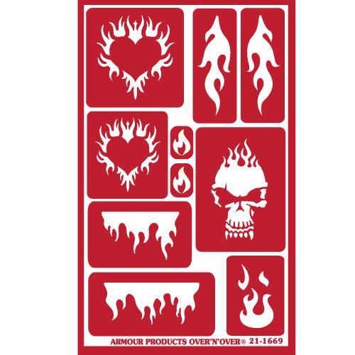 Glasets sjabloon Flames 21-1669