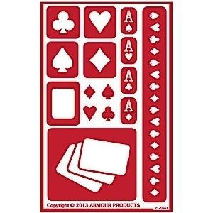 Glasets sjabloon Poker cards 21-1641
