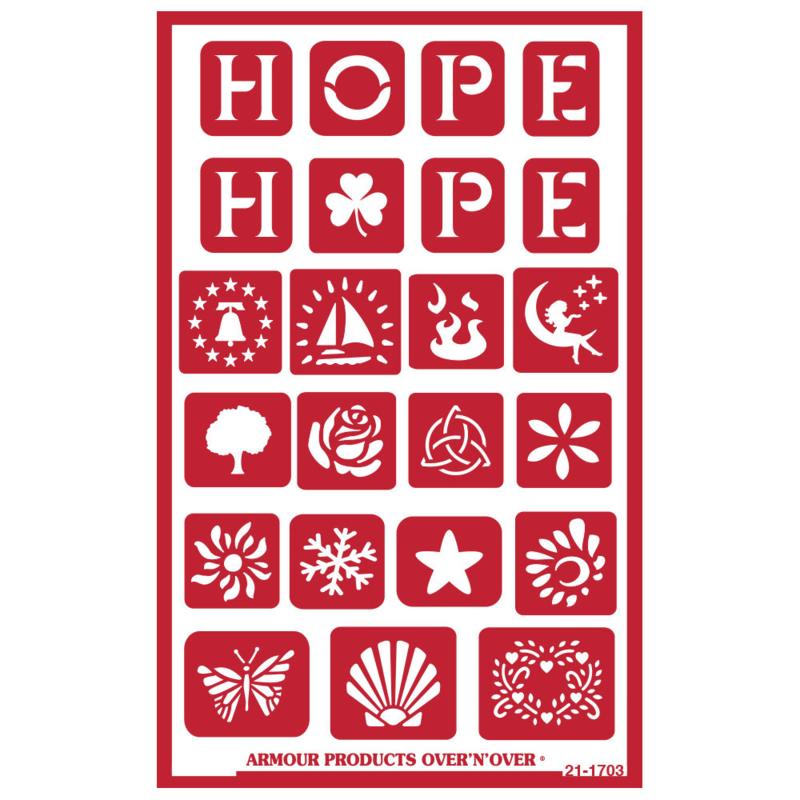 Glasets sjabloon Hope 21-1703