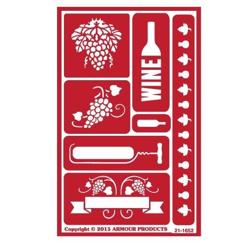 Glasets sjabloon Wine Time 21-1652