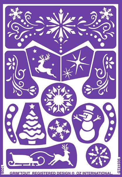 Glasets sjabloon Sneeuwkoningin
