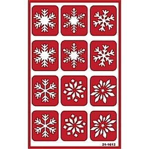 Glasets sjabloon sneeuwvlokken 21-1612