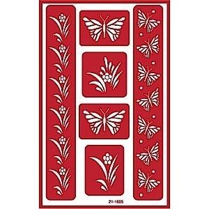 Glasets sjabloon Vlinders 21-1605