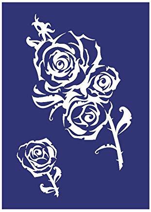 """Glasetssjabloon """"Rose xxl"""""""