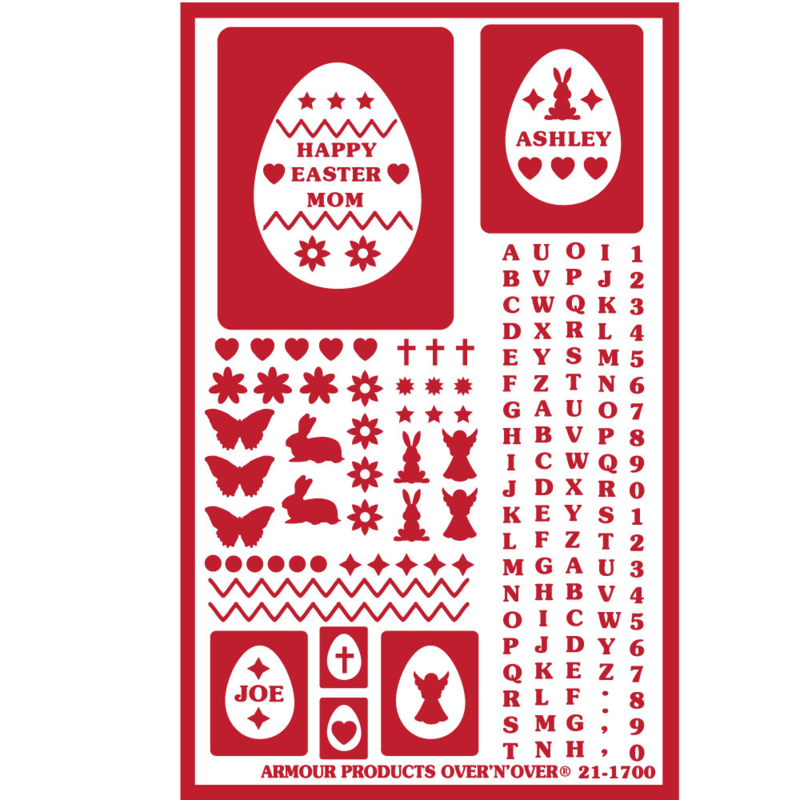 Glasets sjabloon Easter egg 21-1700