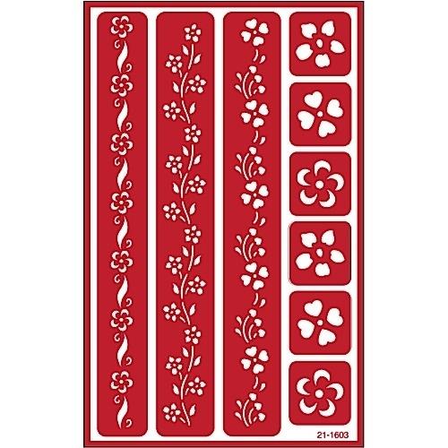 Glasets sjabloon Floral border 21-1603