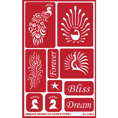 Glasets sjabloon Feathered Bliss 21-1664