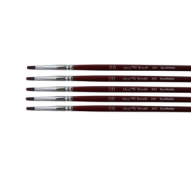 Mus-brush serie 201 Set 5x  No. 00 plat penseel