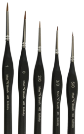 Serie 401 round/fine Kolinsky Set 5 brushes