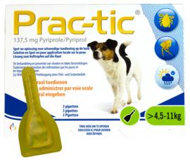 Prac-Tic 137,5 mg Teek&Vlo (4,5-11 kg) 3 pipet