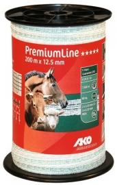 AKO PremiumLine schriklint wit/groen 12.5mm-200m 441533