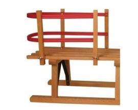 Rugsteun voor houten slede