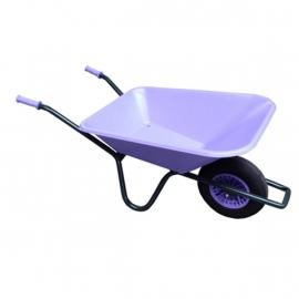 Tuinkruiwagen PP bak 90L, gel.onderstel -Lavendel 515-90LA