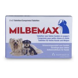 Milbemax filmomh.tabl kleine hond+pup - 2x2 tabl. - REGNL.10090