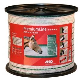 AKO PremiumLine schriklint wit/groen 38mm-200m 441535