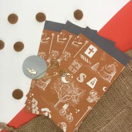 Sinterklaas inpakzakjes - vintage (5 stuks)