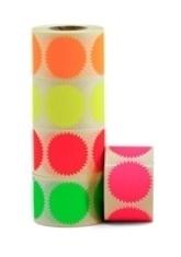 Fluor stickers ster roze