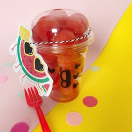 Traktatie label - watermeloen (printable)