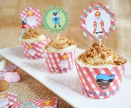 Printable pepernoten cupcakes