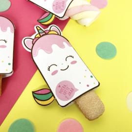 Traktatie roze ijsjes printable