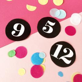 Stickers met cijfer