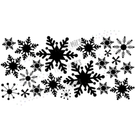 Raamsticker Sneeuwsterren (klein)