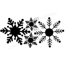 Raamsticker Sneeuwsterren (groot)