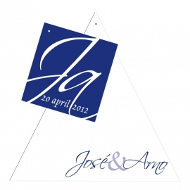 Trouwkaart José en Arno