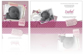 Geboortekaartje Isabel