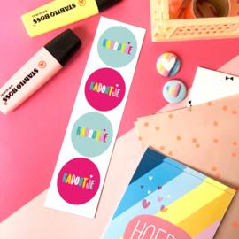Stickers TypischMies Kadootje