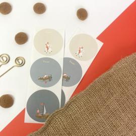 Sticker Sinterklaaskadootjes (6 stuks)