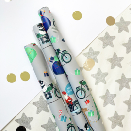 Kerstman inpakpapier (30 cm)