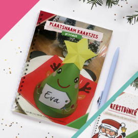 Kerstdiner naamkaartje