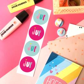 Stickers TypischMies Juf - kleur
