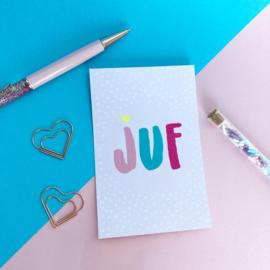 Kaartje JUF licht-roze
