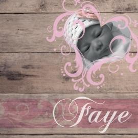Geboortekaartje Faye