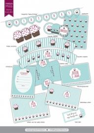 Printable cupcake