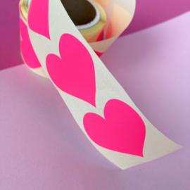 Stickers Hart roze