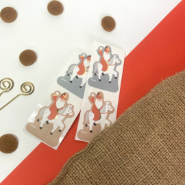 Sticker Sinterklaas op paard (4 stuks)