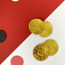 Gouden muntjes (set van 4 stuks)