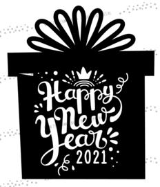 Raamsticker Happy New Year