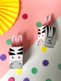 Traktatie zebra printable