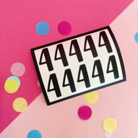 Stickers cijfer