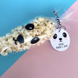 Traktatie label - panda meisje (printable)