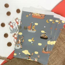 Sinterklaas inpakzakjes - pakjesboot (5 stuks)