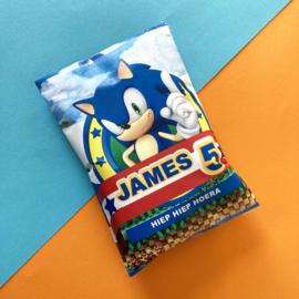 Traktatie chipszakje Sonic printable