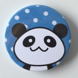 Button panda blauw